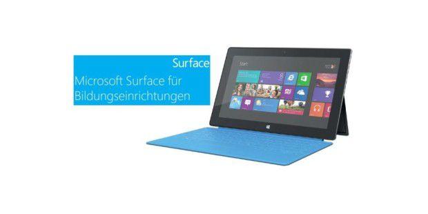 Surface RT zum Schnäppchenpreis für Schüler, Studenten und Lehrer