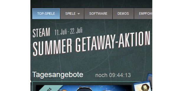 Steam Summer Getaway-Aktion vom 11. Juli bis 22. Juli