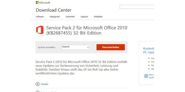 Office 2010 Service Pack 2