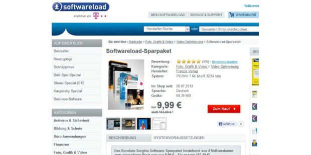 Softwareload-Sparpaket