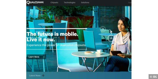Website von Qualcomm