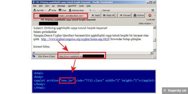 Spear-Phishing mit Link zu Java-Exploit