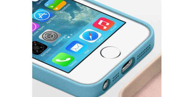 Das iPhone 5S mit dem Fingerprintsensor rund um den Home Button