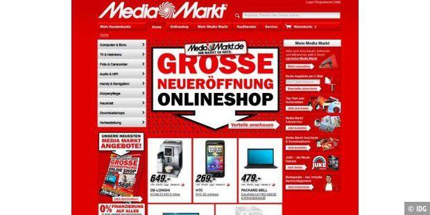 media markt online shop unter die lupe genommen pc welt. Black Bedroom Furniture Sets. Home Design Ideas