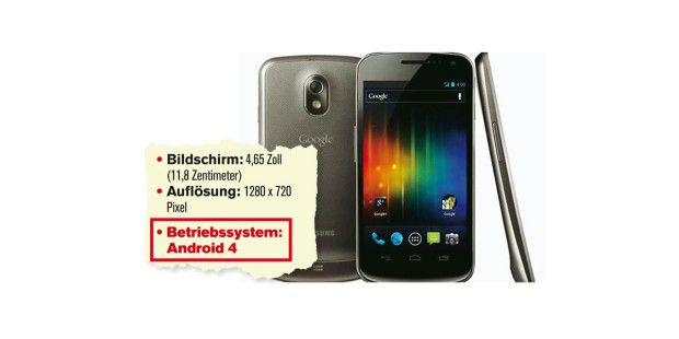 Mit Android 4: Samsung Galaxy Nexus