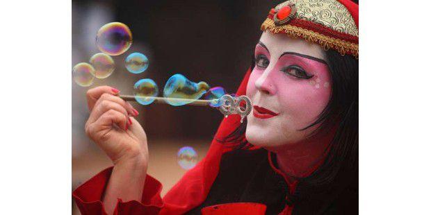 Kunst mit Seifenblasen