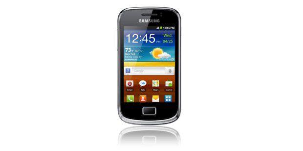 Samsung Galaxy Mini 2 mit kleinem 3,27-Zoll-Display undHVGA-Auflösung.