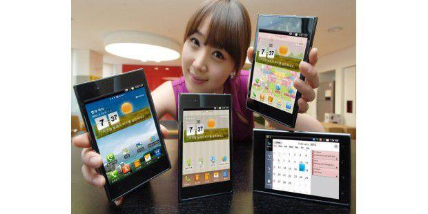 LG Optimus Vu mit 5 Zoll und 4:3 Bildformat.
