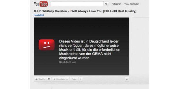 Viele YouTube-Videos sind für deutsche Internetnutzer gesperrt.