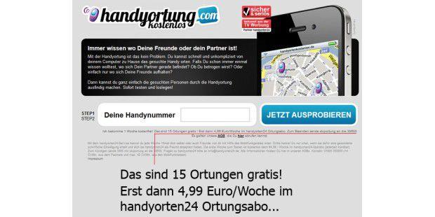 Einige Webangebote zum Orten von Handys sind teureMonatsabos