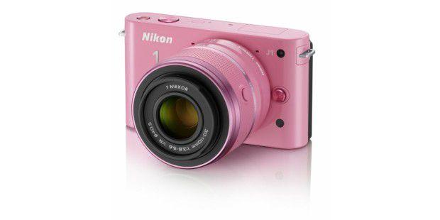 Das kleinere Modell der Nikon 1, die Nikon 1 J1, gibt'sauch in rosa.