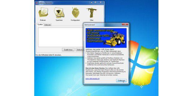 Kann mit fast allen Mail-Programmen zusammenarbeiten: derAddress Harvester