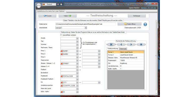 Profi-Tool bei der Arbeit: Der Deduplication Wizard bietetmächtige Funktionen