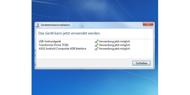 Damit man von Windows aus auf das Tablet zugreifen kann,muss der USB-Treiber installiert sein.