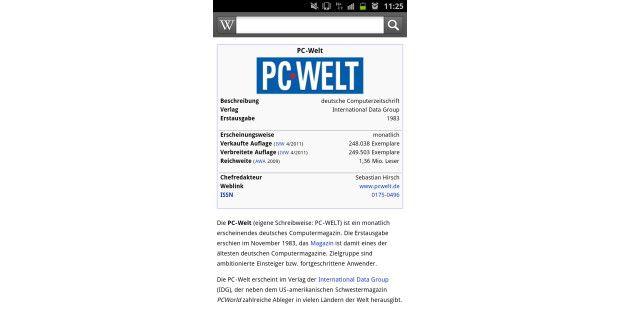 Wikipedia auf einem Android-Smartphone auch offlinelesen.