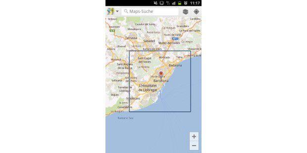 Google Maps auf einem Androiden offline nutzen.