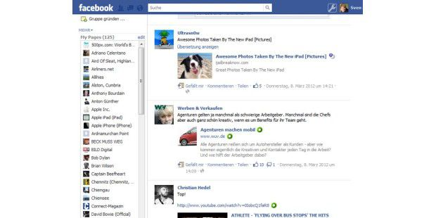 Die Browser-Erweiterung Social Fixer sorgt für einverbessertes Facebook-Menü.