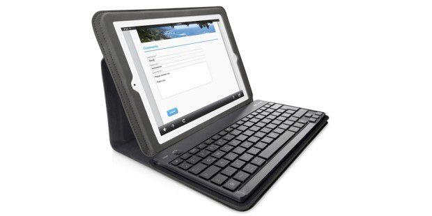 Tastatur und Schutzhülle von Belkin – schlauesWickelkonzept zum Schutz Ihres iPads.