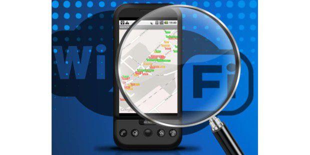 Analysieren von Netzwerken mit dem Smartphone und entsprechenden Apps.