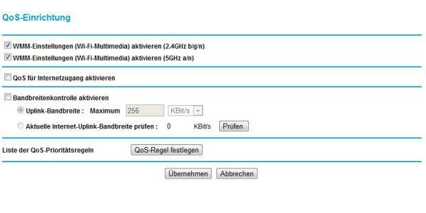 Quality of Service regelt die Priorisierung der Daten imlokalen Netzwerk.