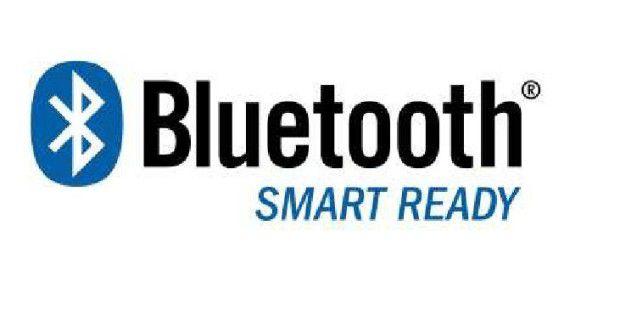 Das Logo Bluetooth Smart Ready weist auf Geräte hin, dieBluetooth 4.0 und ältere Standards unterstützen
