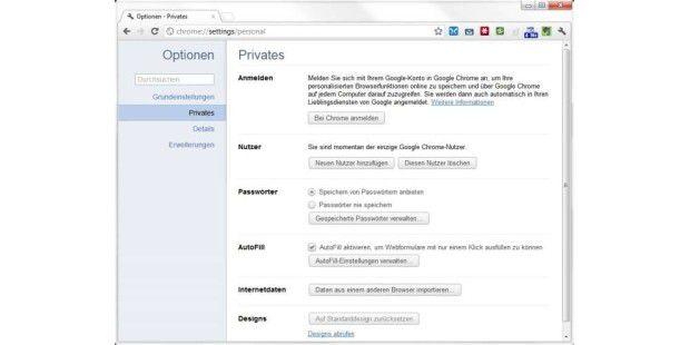 Zwar lassen sich Passwörter im Browser speichern, sicher ist das aber nicht.