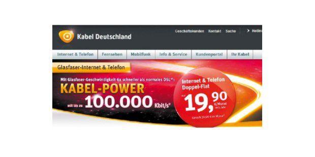 Mit dem Werbepreis von monatlich knapp 20 Euro führt KabelDeutschland seine Kunden in die Irre – denn im zweiten Jahr sindfast 40 Euro zu zahlen.