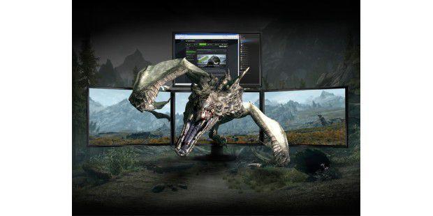Neu seit Kepler: Vier Monitore an einerNvidia-Grafikkarte.