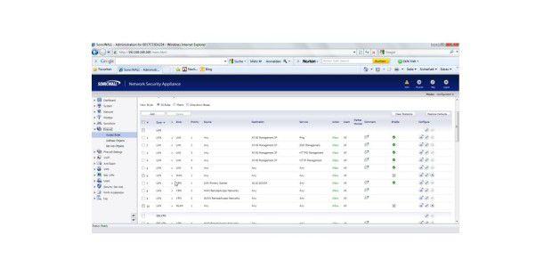 : Sonicwall hat auch eine Firewall in seine Systemintegriert
