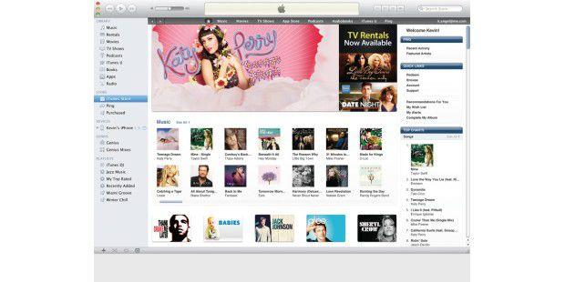 Urheberrechtlich geschützte Werke ohne Lizenz zu laden,ist illegal. Apple hat mit seinem Online-Store gezeigt, wie sichFilme und Musik erfolgreich verkaufen lassen.