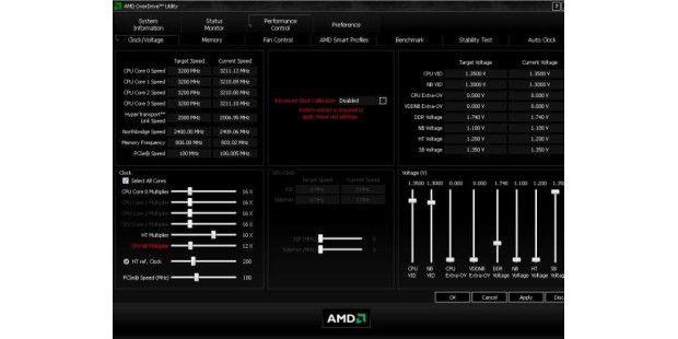 Geeignet zum Untertakten: AMD Overdrive