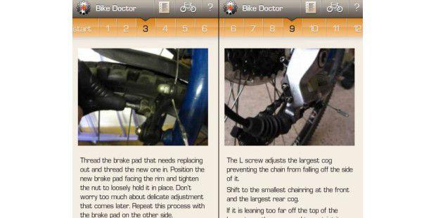 Bike Doctor hilft bei Reparaturen am Drahtesel, ist abernicht immer leicht verständlich