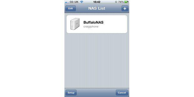 Buffalo: Fernzugriff per App gibt es sowohl fürs iPhoneals auch für Android-Smartphones. Mit diesen Apps können Siebeispielsweise spontan eine Diashow mit Bildern vom letzten Urlaubzeigen.