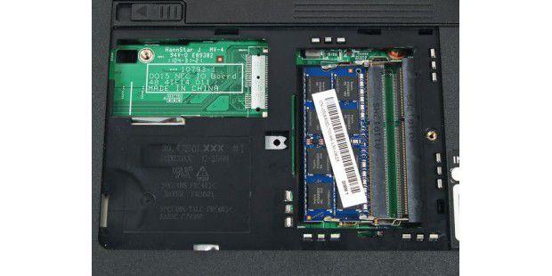 RAM aufrüsten: Mehr Arbeitsspeicher lässt sich bei fastallen Notebooks problemlos einbauen