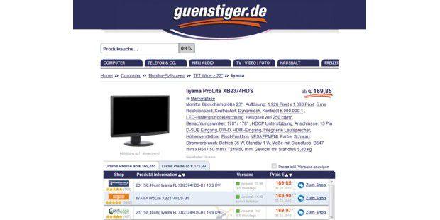 Preissuchmaschinen wie Günstiger.de machen blitzschnellden besten Preis inklusive Versandkosten ausfindig: DieseTransparenz sorgt für günstige Preise im Internet.
