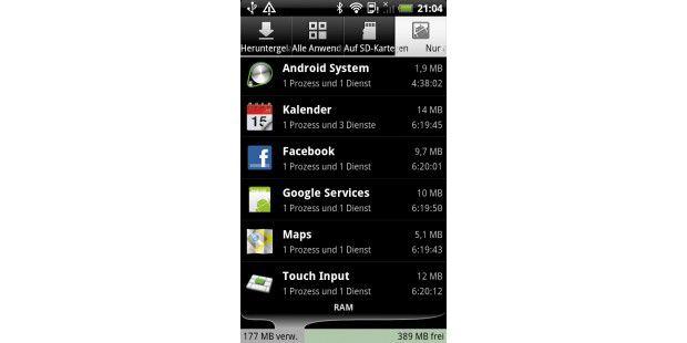 Durch das vollständige Schließen von Apps geben Sie diebelegten Speicherbereiche wieder frei.