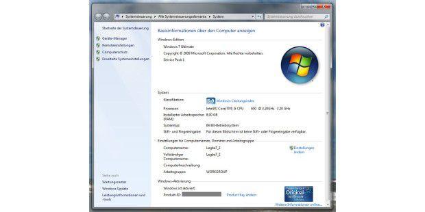 Alles ganz einfach bei Windows 7: Wer sicher sein will,dass auf seinem PC wirklich alle Windows-7-Funktionen und –Featuresvorhanden sind, der wählt die Ultimate-Versionen aus