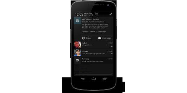 Android 4.1: Aktionen direkt im Benachrichtungsmenüausführen