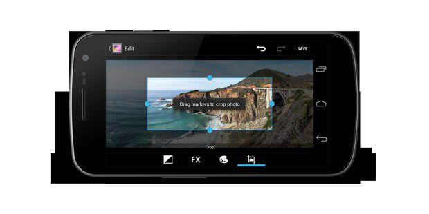 Android 4.1: Fotoanwendung mitFimstreifen-Ansicht