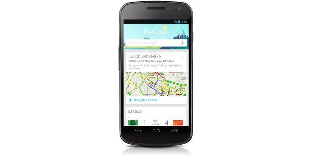 Android 4.1: Google Now liefert immer passende Ergebnisseim richtigen Moment