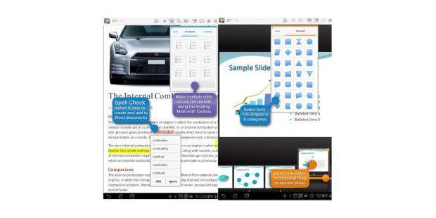 Mit Quickoffice Pro HD können Sie das Android-Tablet für Office-Arbeiten nut