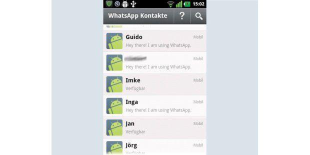 Whatsapp prüft automatisch im Handytelefonbuch, wer vonden Kontakten sie bereits nutzt.