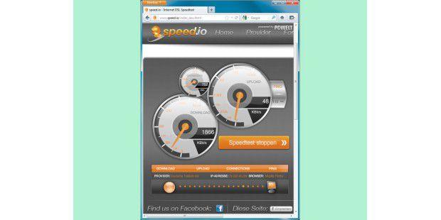 Derzeitiges DSL-Tempo exakt messen: Machen Sie mehrereGeschwindigkeitstests – zum Beispiel per www.speed.io – zuunterschiedlichen Uhrzeiten, und bilden Sie einenDurchschnittswert.