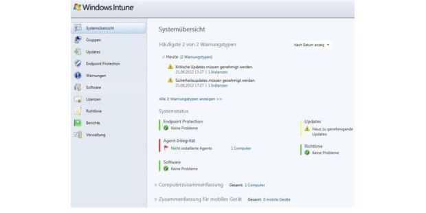 Die komplette Übersicht der Management-Lösung Windows Intune