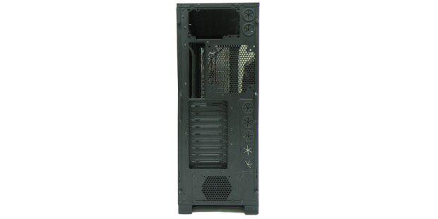 Die zentralen SChnittstellen befinden sich auf derRückseite des PC-Gehäuses.
