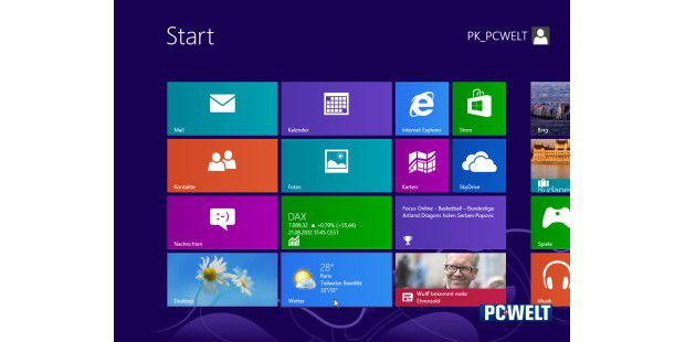 Windows 8 - der erste Start