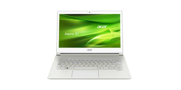 Viele Hersteller statten bestimmte Notebook-Modelle mitTouch-Display aus wie Acer beim Ultrabook Aspire S7