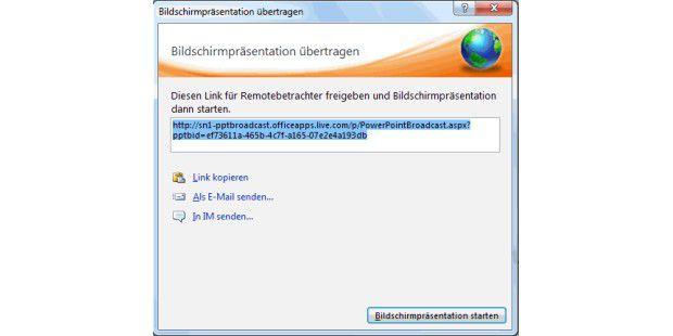 Mit Windows Live ID und dem integrierten Broadcast-Toolvon PowerPoint 2010 stellen Sie Ihre Präsentation einem großenOnline-Publikum zur Verfügung