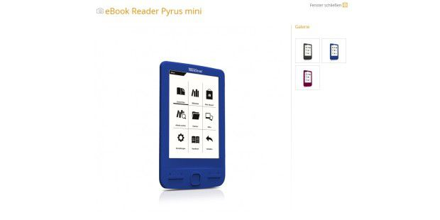 Ultra handlicher eBook-Reader: Trekstor Pyros Mini
