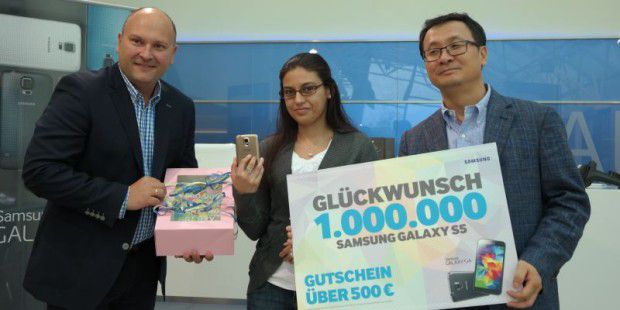 Samsung verkaufte 1 Million Galaxy S5 in Deutschland